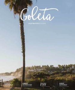Magazine cover of the Pacific coast for the 2019 Goleta Visitor Magazine