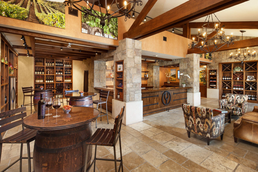 Wooden fixtures and beautiful decor at the Foley tasting room, found at the Ritz-Carlton Bacara.