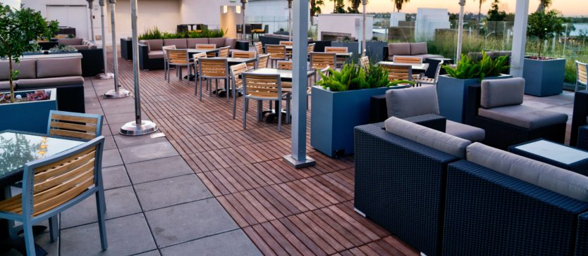 Pictured: Rooftop patio at the Hilton Garden Inn in Goleta.