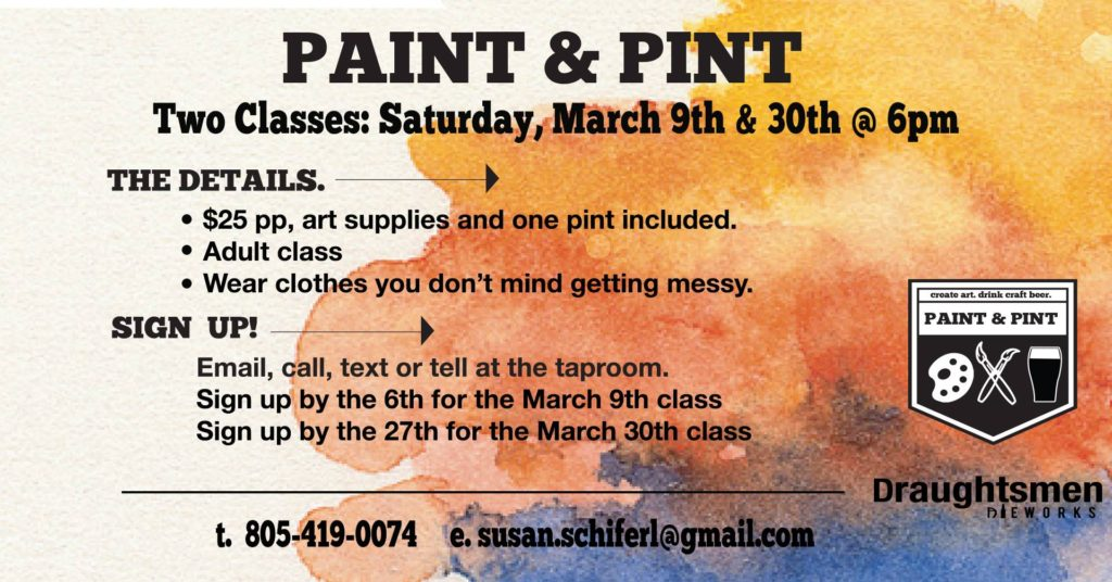 Paint and Print classes poster
