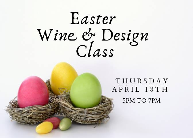 Easter Wine & Design Class graphic